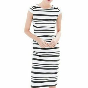 J. Crew Double-stripe cap-sleeve dress